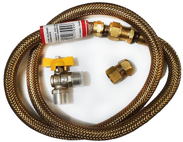 Kit de instalação gás em apartamento tubo 1,50 metros,conserto de fogões bh, so fogoes, sofogoes, peças para fogoão em geral,conserto de fogões,canalizações de gás, instalções de gás predial e resisêncial
