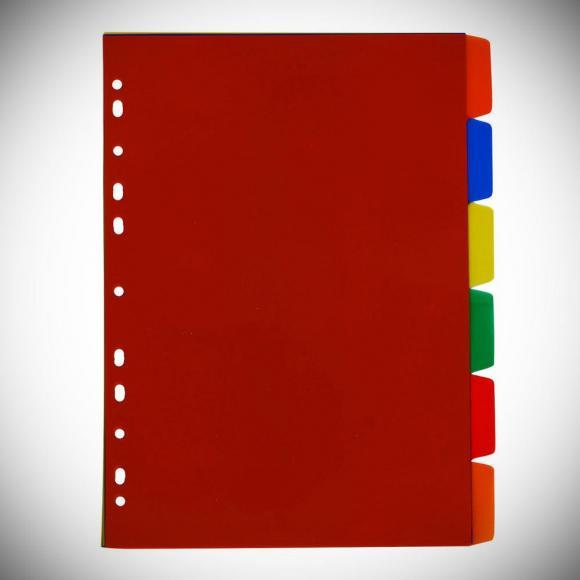 Divisória de Fichário Colorido,divisória de fichário, fichário dividido, divisória colorida, divisão para fichário,divisório plastefacto, divisório de plastico,