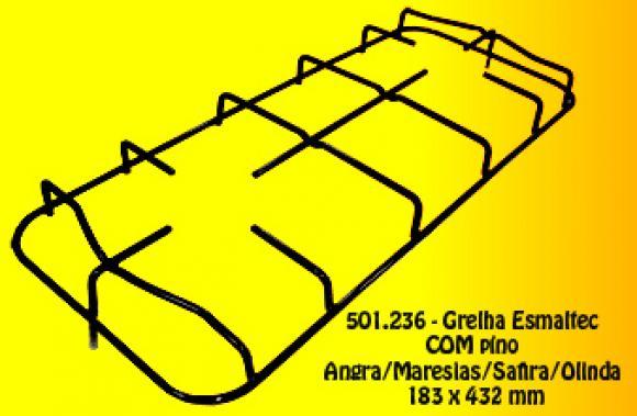 Grelha Esmaltec COM pino Angra/Safira/Maresias/Olinda 183 x 432 mm ,so fogoes,sofogoes,pe�as para fogo�o em geral,fog�es,conserto de fog�es,conserto de fog�es bh,fog�es industriais.fog�es a lenha
