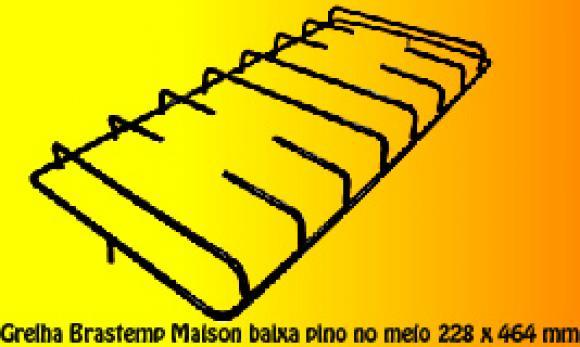 Grelha Brastemp Maison BAIXA Pino no MEIO 228 x 464 mm,so fogoes,sofogoes,pe�as para fogo�o em geral,fog�es,conserto de fog�es,conserto de fog�es bh,fog�es industriais.fog�es a lenha