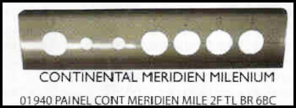 Painel Continental Meridien Millenium 2 furos TL Branco 6 bocas,so fogoes,sofogoes,pe�as para fogo�o em geral,fog�es,conserto de fog�es,conserto de fog�es bh,fog�es industriais.fog�es a lenha
