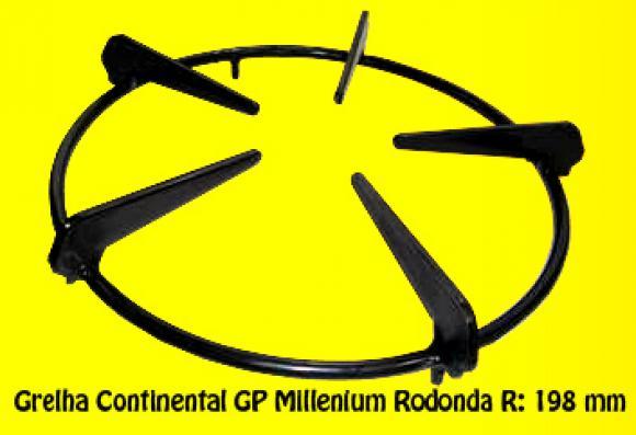 Grelha Continental GP Millenium redonda 198 mm,so fogoes,sofogoes,pe�as para fogo�o em geral,fog�es,conserto de fog�es,conserto de fog�es bh,fog�es industriais.fog�es a lenha