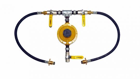 Kit Regulador De Gas 1+1 P45 12 Kg/h Ligação Glp,conserto de fogões bh, so fogoes, sofogoes, peças para fogoão em geral,conserto de fogões,canalizações de gás, instalções de gás predial e resisêncial