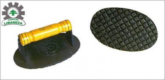Prensador de bife em ferro fundido pequeno,prensador de bife de ferro