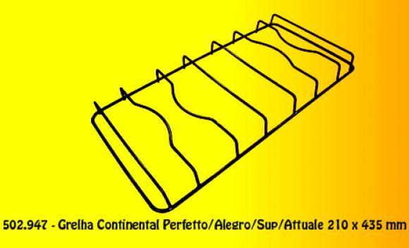 Grelha Cont. Perfetto/Alegro/Sup/Attuale 210 x 435 mm,so fogoes,sofogoes,pe�as para fogo�o em geral,fog�es,conserto de fog�es,conserto de fog�es bh,fog�es industriais.fog�es a lenha