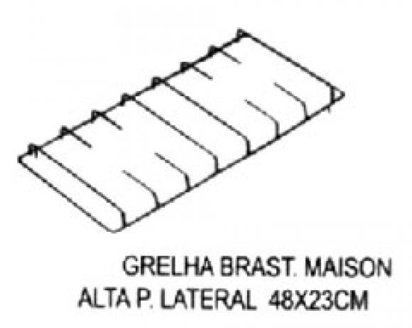 Grelha Brastemp Maison ALTA pino LATERAL 224 x 470 mm,so fogoes,sofogoes,pe�as para fogo�o em geral,fog�es,conserto de fog�es,conserto de fog�es bh,fog�es industriais.fog�es a lenha
