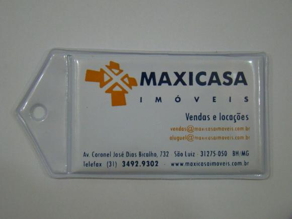 Chaveiro em PVC, chaveiro cartão de visita, imobiliária, locadora, chaveiro, chaveiro tamanho cartão de visita