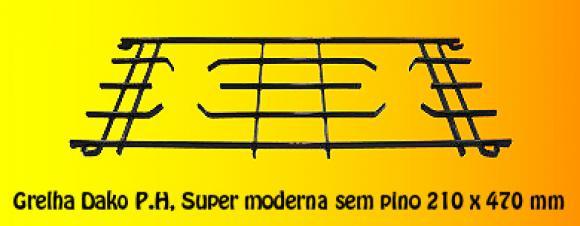 Grelha Dako P.H. Super Moderna sem pino 210 x 470,so fogoes,sofogoes,pe�as para fogo�o em geral,fog�es,conserto de fog�es,conserto de fog�es bh,fog�es industriais.fog�es a lenha