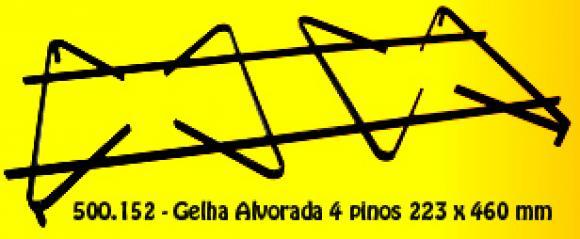 Grelha Esmaltec Alvorada 4 pinos 223 x 460 mm,grelhas para fog�o Esmaltec