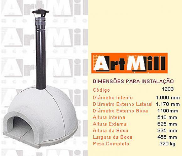 Forno Domiciliar Igloo com Chamin� Central 100,forno a lenha igloo