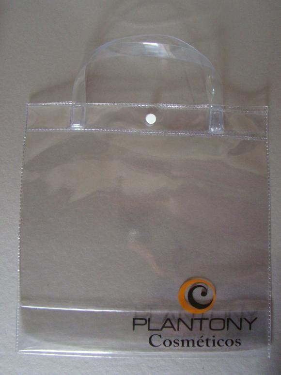 sacola pvc, sacola de plastica, bolsa de plastico, sacola para cosméticos, sacola propaganda, cosméticos, propaganda, sacola empresa