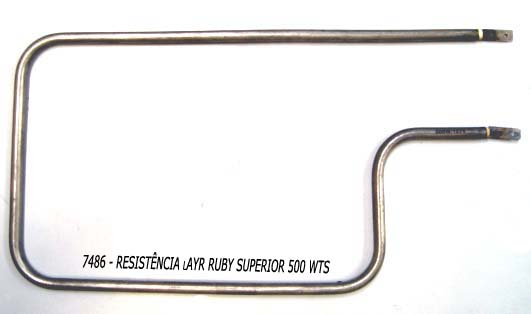 Resistência Forno Layr Ruby superior 500 w,Peças para forno layr