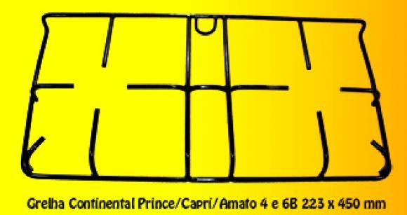 Grelha Continental Prince/Capri/Amato 223 x 450 mm,so fogoes,sofogoes,pe�as para fogo�o em geral,fog�es,conserto de fog�es,conserto de fog�es bh,fog�es industriais.fog�es a lenha