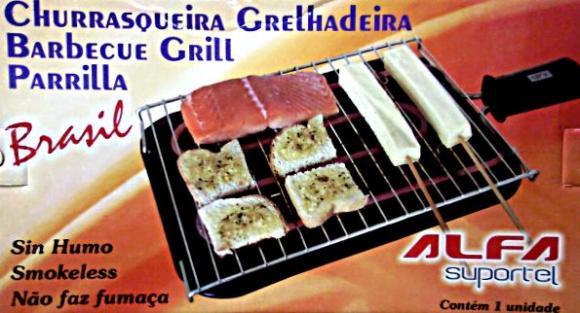 Churrasqueira El�trica ALFA Grelhadeira Brasil 110v,Grelhadeira