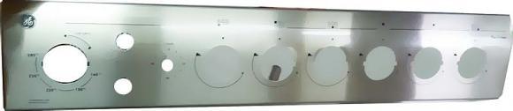 Painel GE De Luxe 6 bocas 2 interruptores inox com timer,so fogoes,sofogoes,pe�as para fogo�o em geral,fog�es,conserto de fog�es,conserto de fog�es bh,fog�es industriais.fog�es a lenha