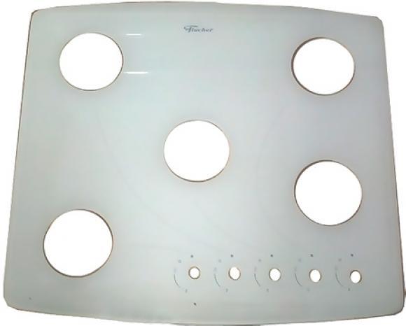 Mesa de vitroceramica do Fischer Cooktop 5 bocas branca,so fogoes,sofogoes,pe�as para fogo�o em geral,fog�es,conserto de fog�es,conserto de fog�es bh,fog�es industriais.fog�es a lenha
