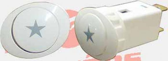 Interruptor Bosch NG oval Ignição branco,conserto de fogões bh, so fogoes, sofogoes, peças para fogoão em geral,conserto de fogões,canalizações de gás, instalções de gás predial e resisêncial