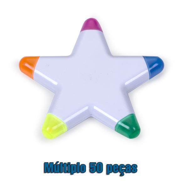 Estrela marca texto com varias cores de marca texto ,