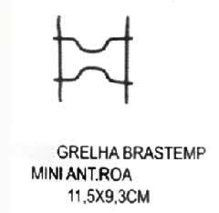Grelha Brastemp Mini Antiga 11,5 x 9,3 cm,so fogoes,sofogoes,pe�as para fogo�o em geral,fog�es,conserto de fog�es,conserto de fog�es bh,fog�es industriais.fog�es a lenha