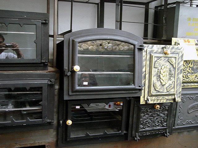 Forno p fog�o Arqueado ferro porta de Vidro GRA,fog�o a lenha