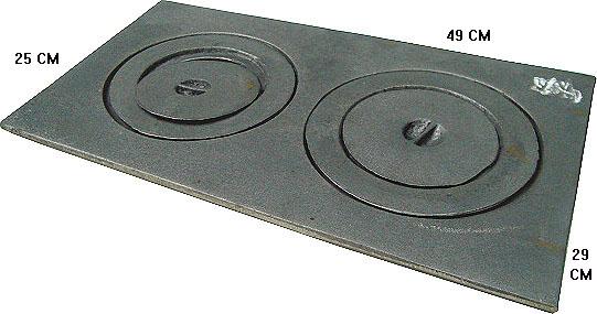 Chapa para fog�o a  lenha 2 furos c redu��o e tp,Chapa fog?o a lenha 2 bocas