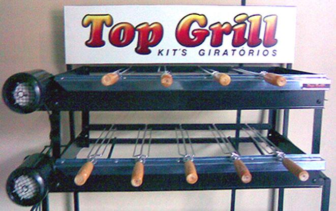 Gira espeto el�trico para churrasqueira alvenaria REFOR�ADO 9 Espetos,Gira Grill