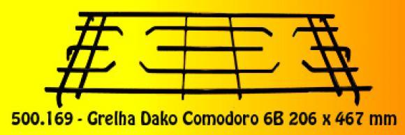 Grelha Dako Comodoro 6B 206 x 467 mm,grelhas Dako