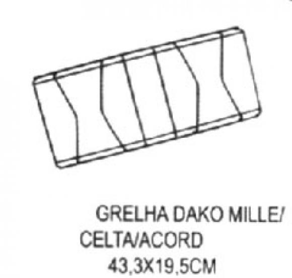 Grelha Dako Mille Celta Accord 433 x 195,Grelha para fog�o Dako