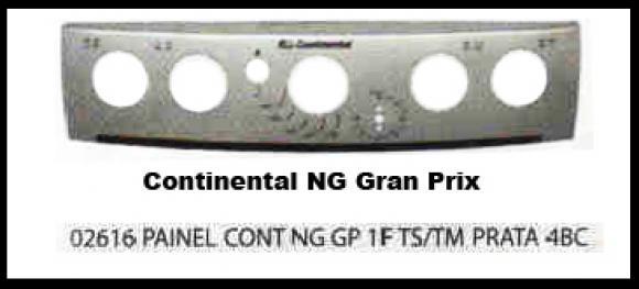 Painel Continental NG Gran Prix 1 furo 4 bocas prata Timer,so fogoes,sofogoes,pe�as para fogo�o em geral,fog�es,conserto de fog�es,conserto de fog�es bh,fog�es industriais.fog�es a lenha