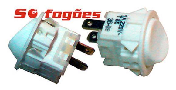 Interruptor Continental NG branco Luz,conserto de fogões bh, so fogoes, sofogoes, peças para fogoão em geral,conserto de fogões,canalizações de gás, instalções de gás predial e resisêncial