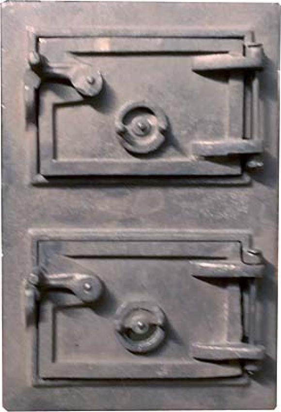Cinzeiro / Porta Dupla ferro 40 x 27,so fogoes,sofogoes,pe�as para fogo�o em geral,fog�es,conserto de fog�es,conserto de fog�es bh,fog�es industriais.fog�es a lenha