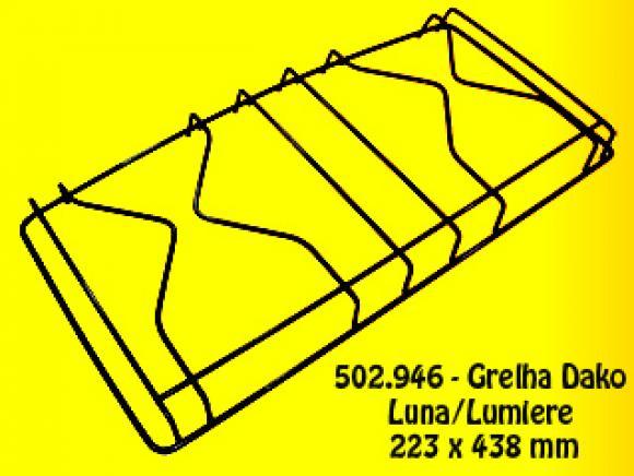 Grelha Dako Luna/Lumiere 223 x 438 mm,so fogoes,sofogoes,pe�as para fogo�o em geral,fog�es,conserto de fog�es,conserto de fog�es bh,fog�es industriais.fog�es a lenha