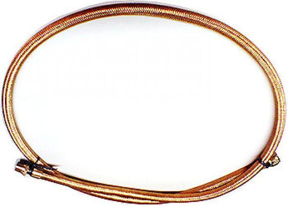 Mangueira Metálica 1/2 npt M x 1/2 npt F - 2 mts cobre,mangueira de aço, mangueira com revestimento de aço,magueira trançada de aço