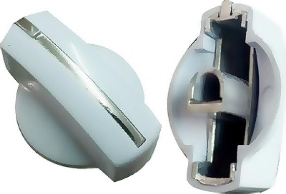 Botão MABE tira de alumínio cano curto branco TIMER,conserto de fogões bh, so fogoes, sofogoes, peças para fogoão em geral,conserto de fogões,canalizações de gás, instalções de gás predial e resisêncial