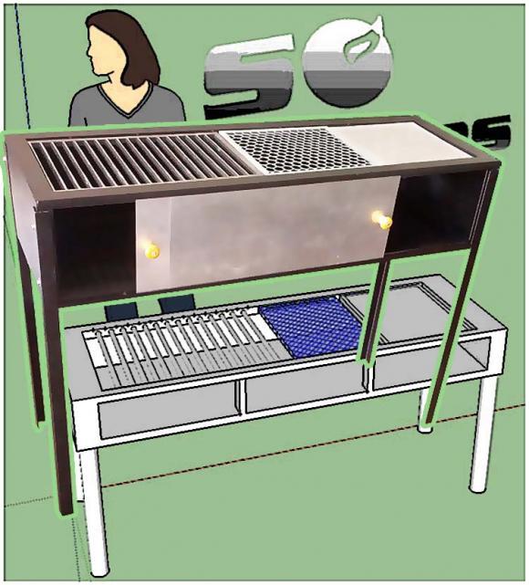 Fog�o � lenha estilo Parrilha com chapa, grade e grelha 1,20 metros,so fogoes,sofogoes,pe�as para fogo�o em geral,fog�es,conserto de fog�es,conserto de fog�es bh,fog�es industriais.fog�es a lenha