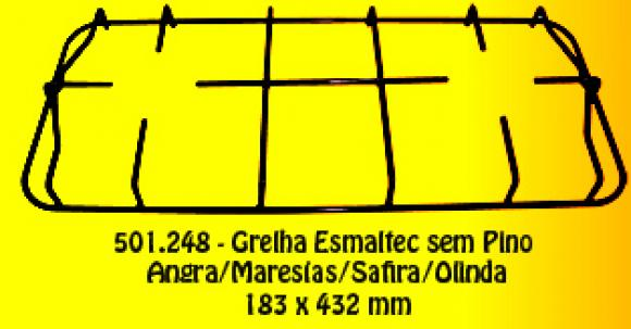 Grelha Esmaltec sem pino Angra/Safira/Maresias/Olinda 183 x 432 mm,so fogoes,sofogoes,pe�as para fogo�o em geral,fog�es,conserto de fog�es,conserto de fog�es bh,fog�es industriais.fog�es a lenha