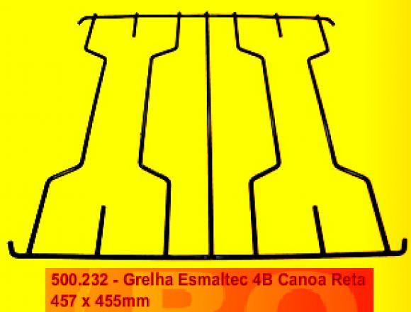 Grelha Esmaltec 4B Canoa reta 457 x 455 mm,grelha fog�o Esmaltec