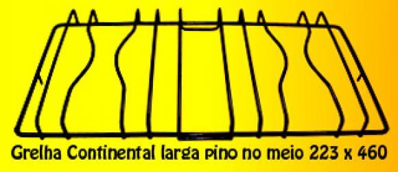 Grelha Continental LARGA Pino no MEIO 223 x 460 mm,GRELHA PARA FOG�O
