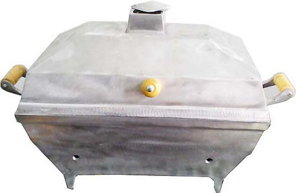 Churrasqueira Bafo Mini aluminio quadrada,Churrasqueira bafo