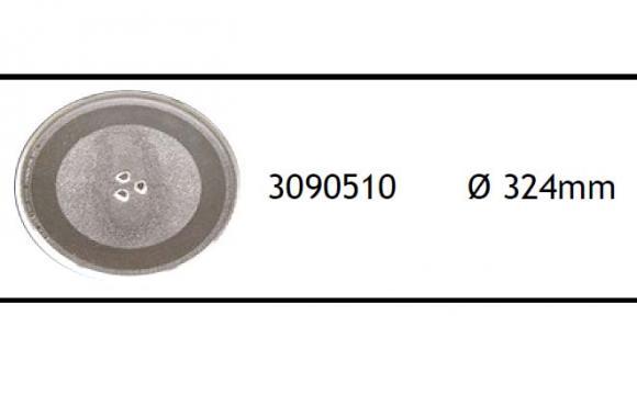 Prato de Microondas 324 mm trevo,so fogoes,sofogoes,pe�as para fogo�o em geral,fog�es,conserto de fog�es,conserto de fog�es bh,fog�es industriais.fog�es a lenha